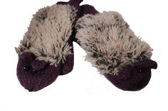 Purple Hedgehog Mittens
