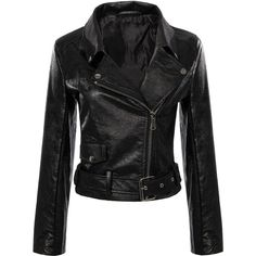 Yoins Yoins Black Biker Jacket ($55) ❤ liked on Polyvore featuring outerwear, jackets, yoins, jackets and blazers, belted jacket, asymmetrical zipper jacket, asymmetrical zip jacket, moto jacket and motorcycle jacket