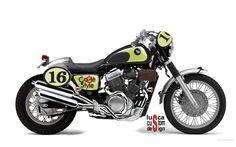 luSca custom design: Honda VT 750 Ca2fé style