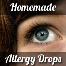 Homemade Allergy Eye Drops