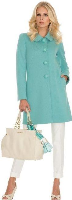 Luisa Spagnoli Online Shop: online sale of Luisa Spagnoli women's clothing, bags and accessories. Check out the Luisa Spagnoli women's fashion collection! Trendy Dresses, Elegant Dresses, Women's Dresses, Blue Dresses, Fashion Dresses, Marine Uniform, Turquoise, Winter Dresses, Dress Winter