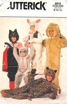 BUTTERICK 6815 - FROM 80S - UNCUT - CHILDRENS COSTUMES