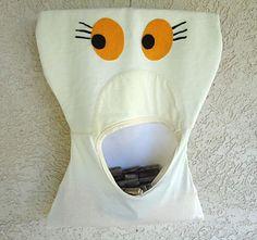T-shirts + Reutilizar = Saco para molas DIY / T-Shirts + Upcycling = Spring Clip bag | Reutilizar a Mente