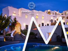 Finikia Memories Hotel is located in Oia Santorini (Finikia Place). Book your accommodation (rooms or suites) with sea or swimming pool views in Oia, Santorini. Oia Santorini, Design Development, Beautiful Sunset, Beautiful Landscapes, Swimming Pools, Places To Visit, Rooms, Memories, Sea
