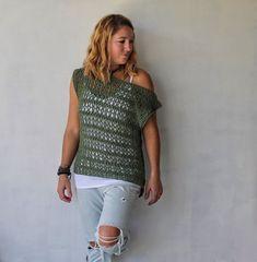 Easy Crochet Top~ The Ivy Tee~ Free Pattern ~ Cactus & Lace Designs Bag Crochet, Crochet Gratis, Free Crochet, Top Boho, Boho Tops, Top Pattern, Free Pattern, Crochet Summer Tops, Crochet Tops