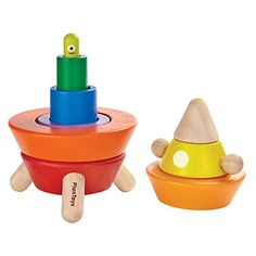 Cone Sorting Rocket - A sorting and stacking toy rocket from Plan Toys Toddler Toys, Baby Toys, Toy Rocket, Outer Space Theme, Plan Toys, Stacking Toys, Kegel, Kids Wood, Classic Toys