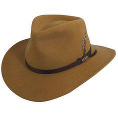 50c92252 Scala DF6 Crushable Wool Felt Outback Hat Men's Brimmed Hats, Brim Hat,  Fedora Hat