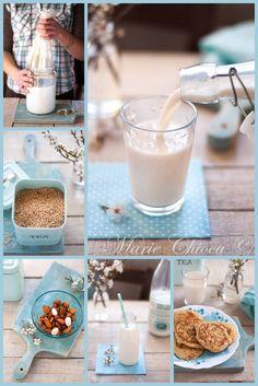{ De la douceur au petit-déjeuner }  Lait Végétal Amande-Avoine (+ Des bannocks pour recycler l'okara !)  ♥ Sans lait ♥ Sans œufs ♥ IG bas ♥