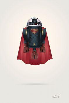 Superman R2-D2 Art Prints