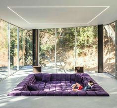 Cupertino California, Relax Room, Relaxation Room, Sunk In Living Room, Living Area, Cool Secret Rooms, Dream House Interior, Interior Design Living Room, Decor Interior Design