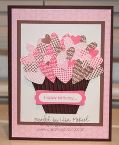 i {heart} cupcakes birthday card by lisalisella - Cards and Paper Crafts at Splitcoaststampers