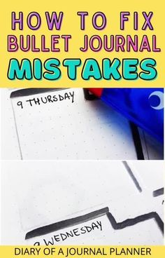 Don't ruin your bullet journal with silly little mistakes, get all the best hacks for fixing bullet journal mistakes here! #bulletjournalhacks #bujo #bulletjournamistakes Bullet Journal Layout Templates, Bullet Journal Contents, Bullet Journal Printables, Bullet Journal Hacks, Bullet Journal How To Start A, Bullet Journals, Planner Pages, Life Planner, Printable Planner