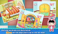 Be a cleaning child!Our app can help  https://play.google.com/store/apps/details?id=com.sencatech.game.livingroom