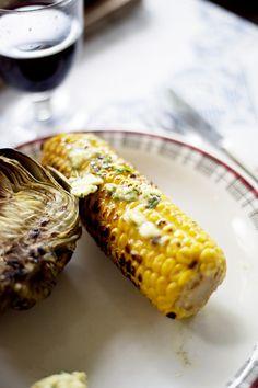 Inspo: kronärtskocka och majs med kryddsmör