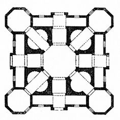 ANTONIO FILARETE, CHURCH FOR ZAGALIA, PLAN, 1455-1460