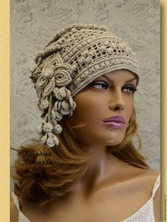 The Effective Pictures We Offer You About diy hair accessories easy A quality picture can tell you many things. You can find the most beautiful pictures that can be presented to you about diy hair acc Crochet Hat With Brim, Crochet Cap, Freeform Crochet, Crochet Beanie, Irish Crochet, Knitted Hats, Free Crochet, Crochet Leaf Patterns, Crochet Designs