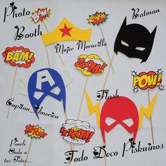 photo booth carteles para tus fotos superhéroes batman flash