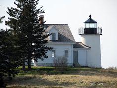 Pumpkin Island Lighthouse, near Little Deer Isle, Maine.