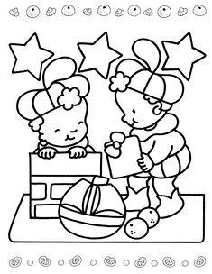 Sinterklaas is Jarig - Kleurplaat Saint Nicolas, Flocking, Embroidery Patterns, Coloring Pages, Crafts For Kids, Snoopy, 1, Seasons, Fictional Characters