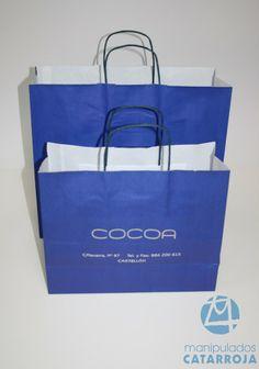 azul klein bolsas de papel