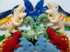 Prendedores de cortina Dinossauros - encomenda Juliana