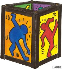 laterne - Google Search Keith Haring, Art For Kids, Crafts For Kids, Arts And Crafts, Bauhaus, Lantern Craft, Expo, Art Lessons, Lanterns