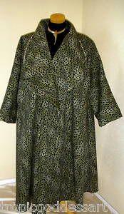 Art to Wear Swing Wrap Trench Coat plus size 4x 5x found on ebay...