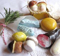 Pilze und anderes aus Salzteig