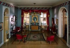 Incredible miniature room, obviously done by a master miniaturist!