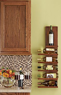 This sleek rack doubles as art and is a perfect fit in the kitchen or dining room. -- Lowe's Creative Ideas