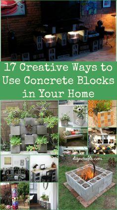 17 Creative Ways to Use Concrete Blocks in Your Home - Genius ideas