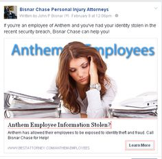 Have you been injured by the #Anthem security breach? You may need representation.
