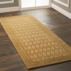 like the pattern, thickness, want lighter color for nursery ~jmb   Harlequin Carpet Runner with Border