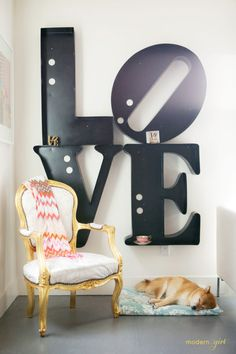 It's pretty big.. More for home than wedding but I think it would look great for a photo booth or wedding table backdrop.. 'Love' it!