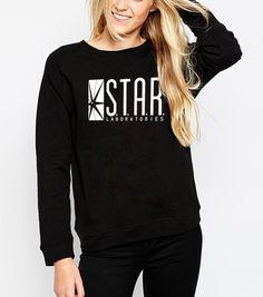Sweatshirt Star Laboratories Women Comic Books TV Star Labs Slim