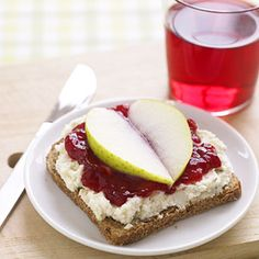Princess Tea Sandwiches aka Valentine's Toast: The recipe calls for rye bread & garlic cream cheese, but frankly my kids & I like it as toast with cream cheese & strawberry preserves or skip the cream cheese, then top with 2 slice of pear or apple to form a heart shape.