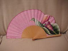 estampación textil 2010: Abanicos pintados a mano