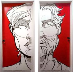 The project briefing was to create illustrations to cover almost 22 meters walls on 3 different floors. Graffiti Wall Art, Graffiti Painting, Murals Street Art, Mural Wall Art, Street Art Graffiti, Wall Drawing, Art Drawings, Wall Painting Decor, Art Graphique