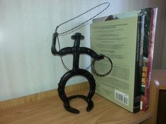 Roping Cowboy Horseshoe Art by AntiqueAnvil on Etsy, $45.00