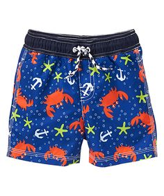 Take a look at this Gymboree Blue Crab Boardshorts - Infant & Toddler today!