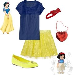Snow White Inspired Kid's Outfit...I bet I can make this umiform complient