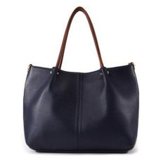 Simple Big Leather Shoulder Bags Leather Totes at doozybag.com