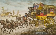 """What a stagecoach passenger should know. """"(...) Departure of the post over the scheduled time can not be accepted, therefore travellers must arrive punctually at the House of the Post, before Post Office transport departure - Do not stop in front of private houses, or roadway, who therefore is being late, is guilty himself, that the Post Office transport departs without him. (...) """"Information for travellers needed"""" - verso of stagecoach ticket, 1826"""