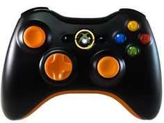 Color Combo Controller Xbox360 Orange - Modded Controllers Xbox One Custom Controllers Xbox 360 Modded Controller ps3 Custom Controller ps4 Mod Controllers playstation Rapid Fire Controllers Xbox Mod Controller Rapid Fire Controller xb1 - 1
