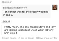 Is THAT why Steve said not to call in Tony in the bonus scene for Ant Man?? It's all so clear now! :D