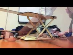 Mechanical Design Scissor Lift Project - YouTube Lift Table, Mechanical Design, Urban Farming, Folding Chair, Scissors, Woodworking Projects, Tattoo Chair, Treehouse, Motorhome