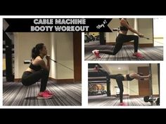 Cable Machine Workouts for Legs and Glutes | Killer for the BOOTY!!! | - YouTube