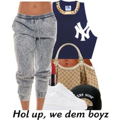 A fashion look from July 2014 featuring NIKE sneakers, Gucci tote bags and Trukfit hats. Browse and shop related looks.