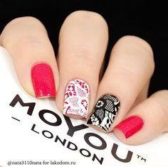 Red and Black lace nails Lace Nails, Red Nails, Hair And Nails, Fabulous Nails, Gorgeous Nails, Pretty Nails, Nagel Stamping, Stamping Nail Art, Watermelon Nails