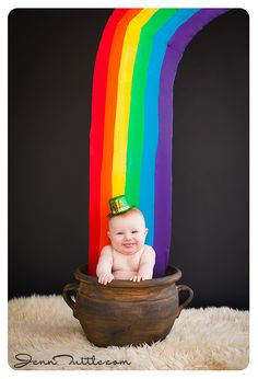 st patricks day rainbow pot props – babies and children – Crafts St Patricks Day Pictures, St. Patricks Day, Newborn Pictures, Baby Pictures, Monthly Baby Photos, Monthly Pictures, Baby Monat Für Monat, St Patrick's Day Photos, Baby Calendar